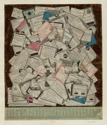 Papiers monnaies et autres de la République française tableau des variations du cours des assignats pour servir de baze aux transactions entre particulier... : [estampe]