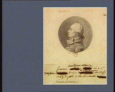 Nazaire François Antoine Morin né à St [...] diocèse de Narbonne le 15 fév 1749 député de la sénéchaussée [de] Carcassonne : [dessin]
