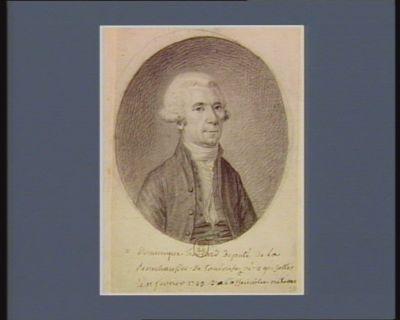 M Dominique hebrard deputé de la senechaussee De Toulouse à l'assemblée <em>nation</em>. né à grisolles le 11 février 1743. : [dessin]