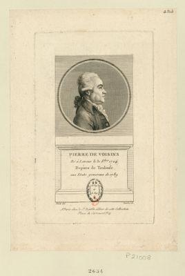 Pierre de Voisins né à Lavaur le 31 8.bre 1724 depute de Toulouse aux Etats generaux de 1789 : [estampe]
