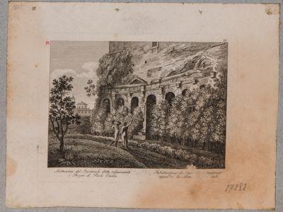 Foro Traiano, estremità settentrionale dell'emiciclo dei Mercati Traianei