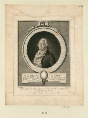 Adam Philipe [sic] Custine ci devant comte de, député des baillages réunis à Metz : [estampe]
