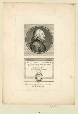 F.çois H.ri Chr.phe Grandin : curé de la ville d'Ernée au Maine, né à Exmes en Normandie en 17[..] député du Maine a l'Assemblée nationale de 1789 : [estampe]
