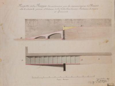 Mura Gianicolensi, rampa di accesso alla Villa Sciarra, progetti