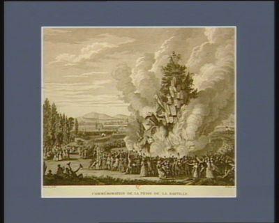 Commémoration de la prise de la Bastille le 14 juillet 1792 : [estampe]