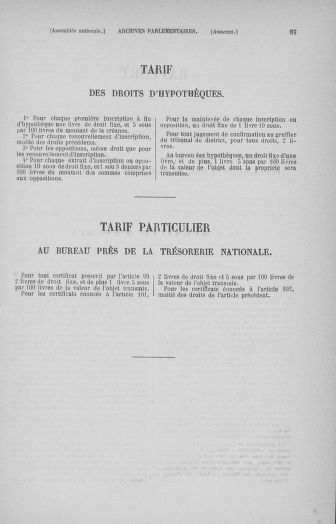 Tome 32 : 30 septembre 1791. Tables. - page 87