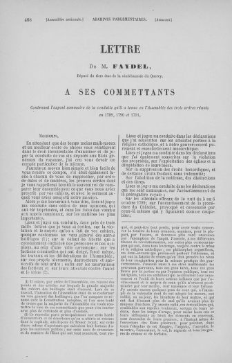 Tome 32 : 30 septembre 1791. Tables. - page 468