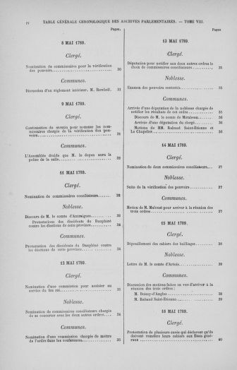 Tome 32 : 30 septembre 1791. Tables. - page IV