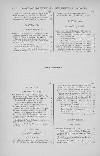 Tome 32 : 30 septembre 1791. Tables. - page XLVI
