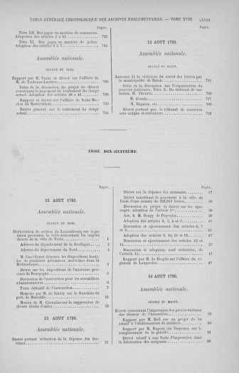 Tome 32 : 30 septembre 1791. Tables. - page LXXIII