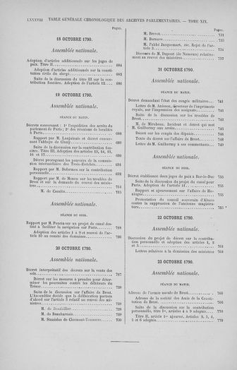 Tome 32 : 30 septembre 1791. Tables. - page LXXXV1II