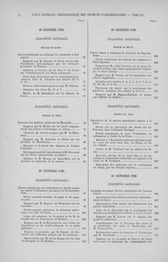Tome 32 : 30 septembre 1791. Tables. - page xc