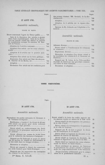 Tome 32 : 30 septembre 1791. Tables. - page CLXI