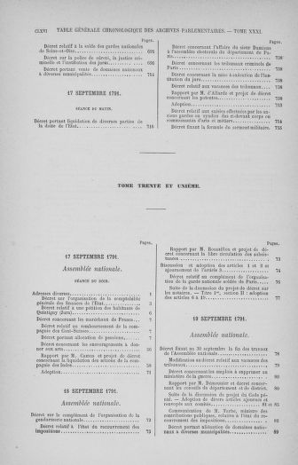 Tome 32 : 30 septembre 1791. Tables. - page CLXVI