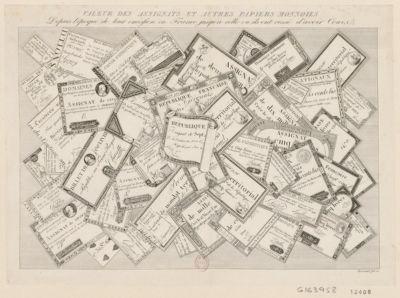 Valeur des assignats <em>et</em> autres papiers monnoies depuis l'époque de leur emission jusqu'à celle ou ils ont cessé d'avoir cours [estampe]