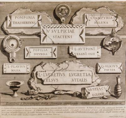 Porta Prenestina, iscrizioni, lucerne e vasi rinvenuti in una camera sepolcrale