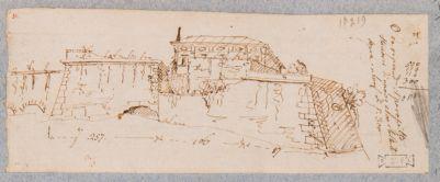 Mura Gianicolensi. Breccia aperta dopo il bombardamento del giugno 1849