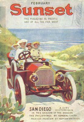 Sunset Magazine cover. February 1911