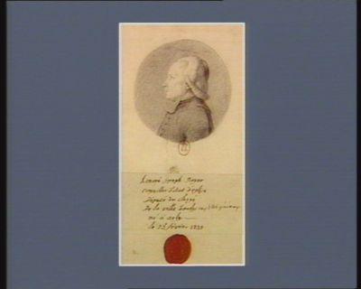 Honoré Joseph Royer conseiller d'etat d'église député du clergé de la ville d'Arles aux Etats généraux, né à Arles le 23 février 1739 : [dessin]