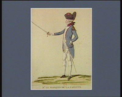 Mr le marquis de <em>La</em> <em>Fayette</em> commandant général de <em>la</em> Garde <em>nationale</em> parisienne : [estampe]
