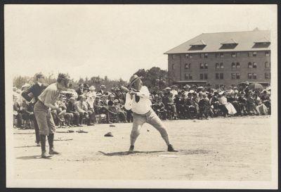 Student life -- faculty-senior baseball