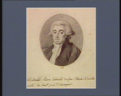 Pierre Hébrard de fau Citoyen d'Aurilla[c] [dé]puté du haut pais d'Auvergne. : [dessin]