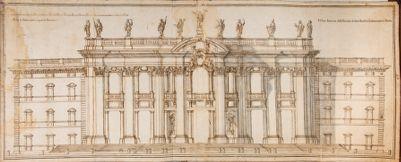 Chiesa di S. Giovanni in Laterano. Progetto per la facciata, alzata