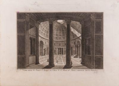 Veduta interna del Pantheon d'Agrippa