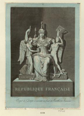 Projet de groupe a exécuter au fond du Panthéon français [estampe]