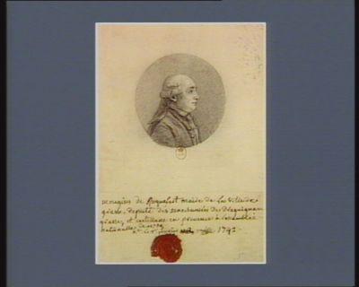 Mougins de Roquefort maire de la ville de Grasse député des sénéchaussées de Draguignan, Grasse et Castellane en Provence à l'Assemblée nationale de 1789 ne le 7 fevrier 1742 : [dessin]