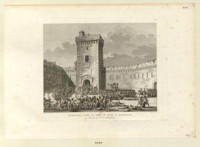 Massacres dans le fort St Jean, à Marseille le 17 prairial an 3.eme de la République : [estampe]