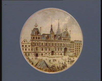 Vue de l'Hotel de Ville de Paris [estampe]