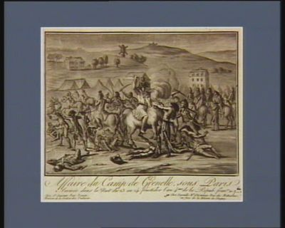 Affaire du camp de Grenelle sous Paris arrivée dans la nuit du 23 au 24 fructidor l'an 4.eme de la Répub. fran.se : [estampe]