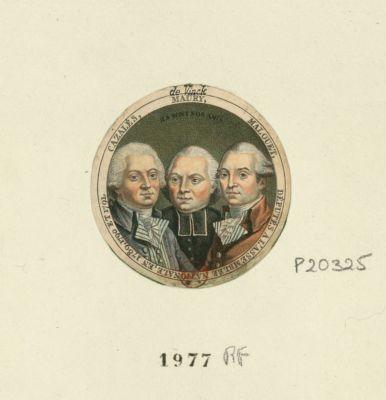 Cazalès, Maury, Malouet, députés a l'Assemblée nationale, en 1789, 1790 et 1791 ils sont nos amis : [estampe]