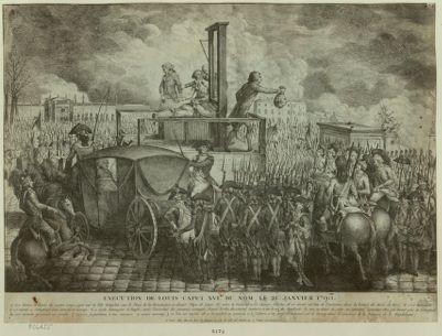 Exécution de Louis Capet XVI.me du nom, le 21 janvier 1793 à dix heures et demie du matin Louis Capet eut la tête tranchée... : [estampe]