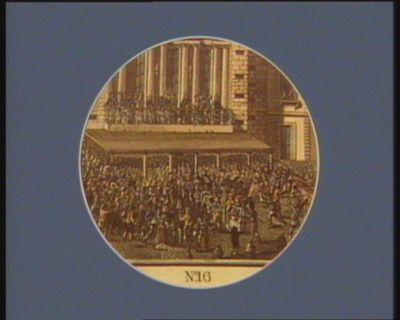 N.o 16 le peuple faisant fermer l'Opera de Paris pour la retraite de M. Necker : [estampe]