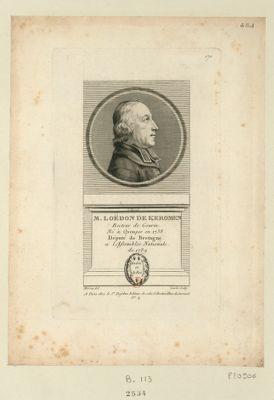 M. Loëdon de Keromen recteur de Gourin. Né à Quimper en 1738 député de Bretagne a l'Assemblée nationale de 1789 : [estampe]