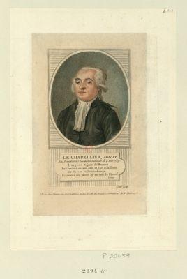 Le  Chapellier, avocat elu président à l'Assemblée nationale, le 4 aout 1789... : [estampe]