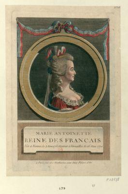 Marie Antoinette reine des Français née à Vienne, le 2 nov. 1755, mariée à Versailles, le 16 mai 1770 : [estampe]