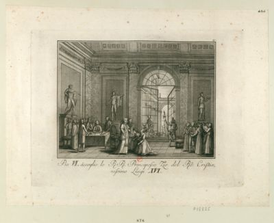 Pio VI accoglie le R.R. principesse tie del rè cristianissimo Luigi XVI [estampe]