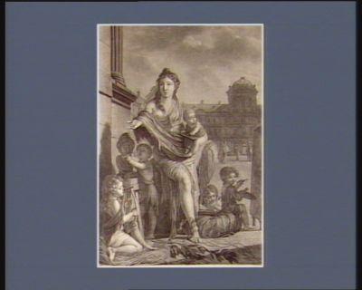 [Allégorie en l'honneur du Musée central des <em>arts</em>] [estampe]