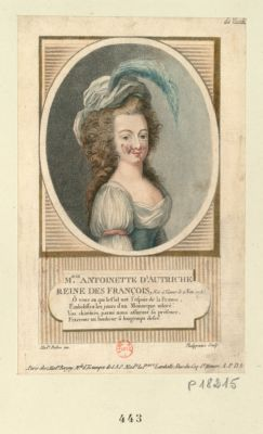 <em>Marie</em> <em>Antoinette</em> d'Autriche, reine des Français née à Vienne le 2 nov. <em>1755</em> : [estampe]