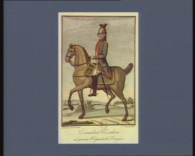 Comandant d'escadron au premier régiment de dragons [estampe]