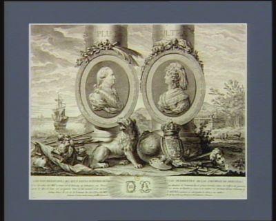 Carlos IIII y Maria Luisa su esposa Reyes de Espana [estampe]