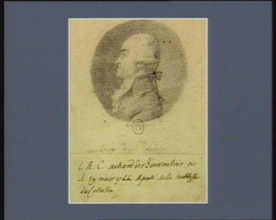 L.R.C. Achard de Bonvouloir. né le 19 mars 1744 député de la noblesse du Cotentin [dessin]