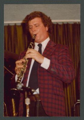 John Gill playing clarinet