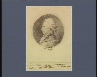 Louis Simon Martineau ancien avocat electeur en 1789 député de <em>Paris</em> né a Villeneuve le Roi le 28 8.bre 1799 : [dessin]