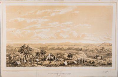 Acqua Traversa, veduta generale della campagna con accampamento francese