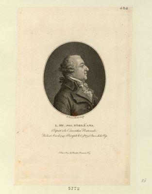 L. Ph. Jos. d'Orléans député à la Convention nationale, né le 13 avril 1747, décapité le 6 9.bre 1793 l'an 2 de la Rép. : [estampe]