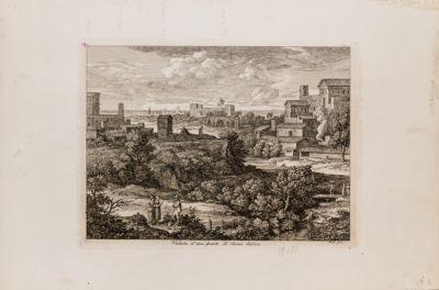 Veduta di una parte di Roma Antica
